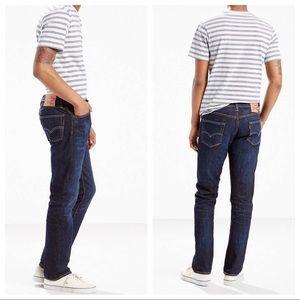 Levi's 504 Dark Wash Straight Leg Denim Jeans